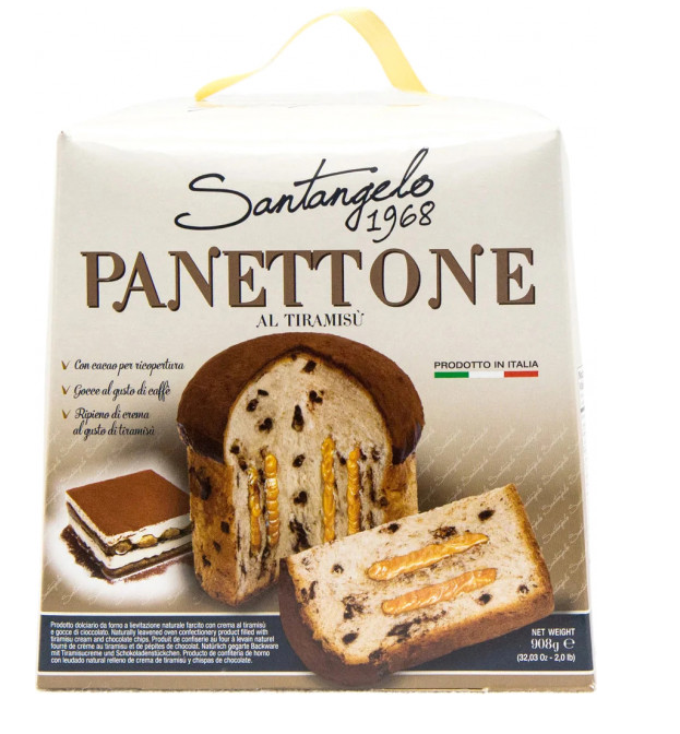 Панеттоне Santagelo Panettone Al Tiramisu 908 г