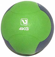 Медбол LiveUp Medicine 21.6 см 4 кг Green-Grey (LS3006F-4)