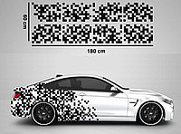 """Наклейки на авто - Тюнинг камуфляж """"Пиксели""""  60х180 см"""