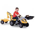 Детский педальный трактор с прицепом и двумя ковшами Smoby MAX 710301 для детей, фото 2