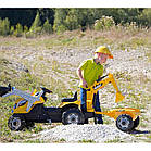 Детский педальный трактор с прицепом и двумя ковшами Smoby MAX 710301 для детей, фото 4