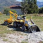 Детский педальный трактор с прицепом и двумя ковшами Smoby MAX 710301 для детей, фото 5