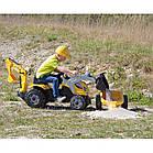 Детский педальный трактор с прицепом и двумя ковшами Smoby MAX 710301 для детей, фото 7
