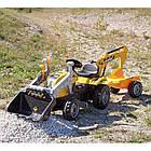 Детский педальный трактор с прицепом и двумя ковшами Smoby MAX 710301 для детей, фото 6