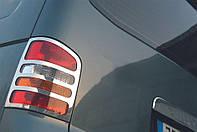 Накладки на фонари задние VW Т5 (Omsa, нерж) / Накладки на фонари Фольксваген Т5 (Транспортер)
