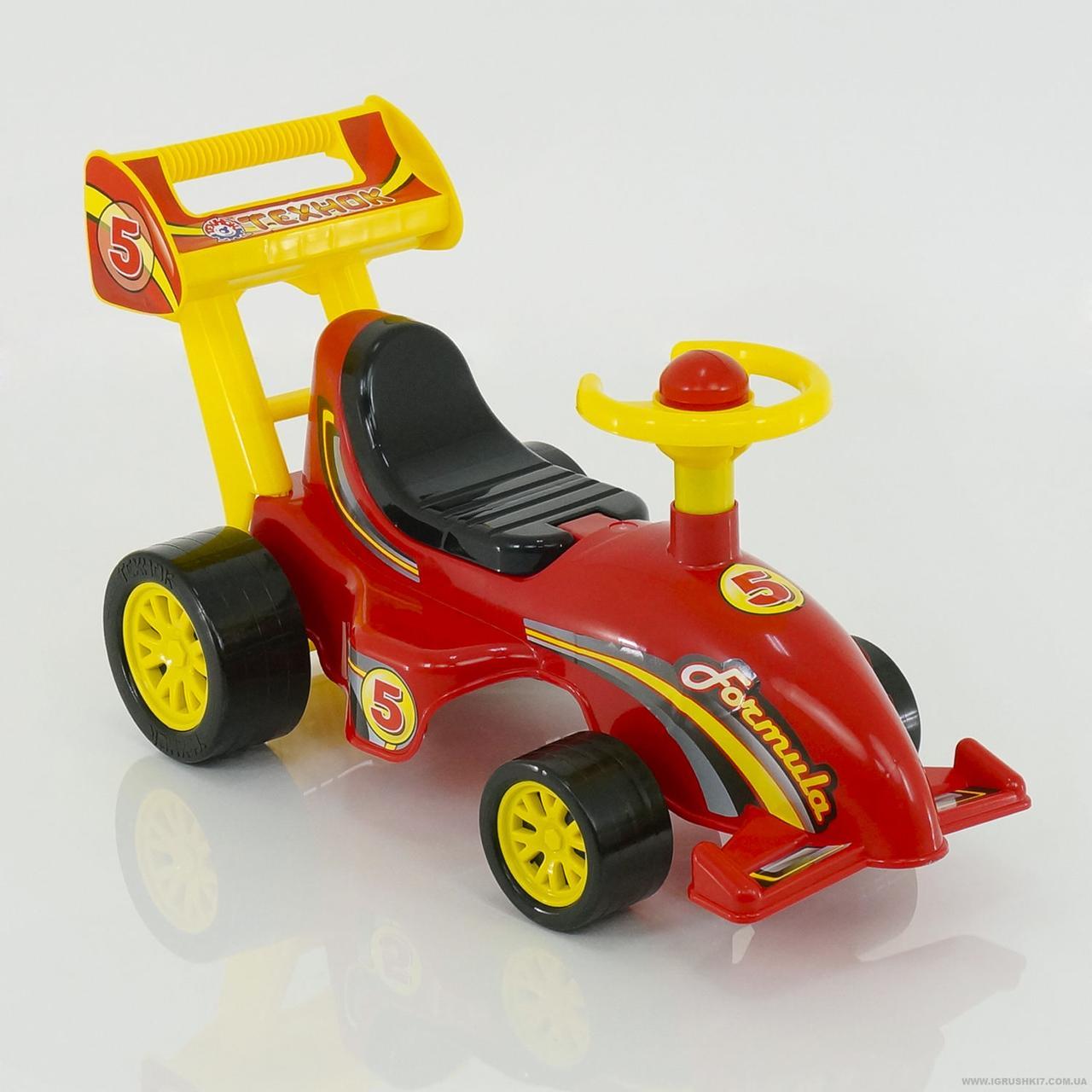 Беби машина каталка толокар ТЕХНОК Формула 3084 красный
