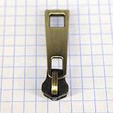 Бегунок на 5 металл молнию антик с пуллером a3107 (10 шт.), фото 3