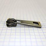 Бегунок на 5 металл молнию антик с пуллером a3107 (10 шт.), фото 4