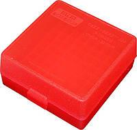 Коробка MTM для патронов кал. 17 HMR, 22WMR. на 100 патронов красный (P-100-22M-29), фото 1