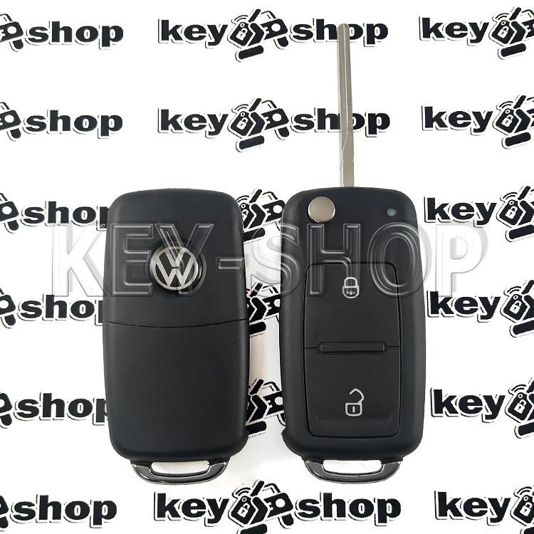 Корпус выкидного ключа для VOLKSWAGEN (Фольксваген) с 2010 года, 2 - кнопки, лезвие HU66
