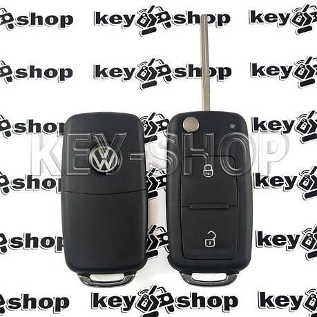 Корпус выкидного ключа для VOLKSWAGEN (Фольксваген) с 2010 года, 2 - кнопки, лезвие HU66, фото 2
