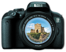 "Магнит-фотоапарат.  ""Замок на горі Бона, м. Кременець"""