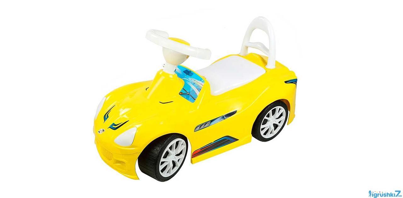 Машина каталка толокар ОРИОН Спорткар 160 желтый