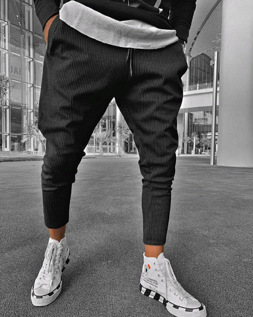 Мужские брюки черные U6