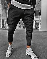 Мужские брюки черные U6, фото 1