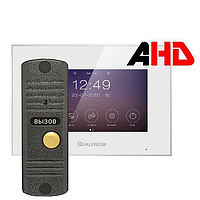 Qualvision QV-IDS4742 White и QV-ODS416BE комплект видеодомофона, фото 1