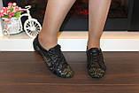 Кроссовки женские черные натуральная кожа Т88, фото 8