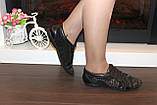 Кроссовки женские черные натуральная кожа Т88, фото 9