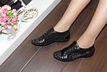 Кроссовки женские черные натуральная кожа Т88, фото 10