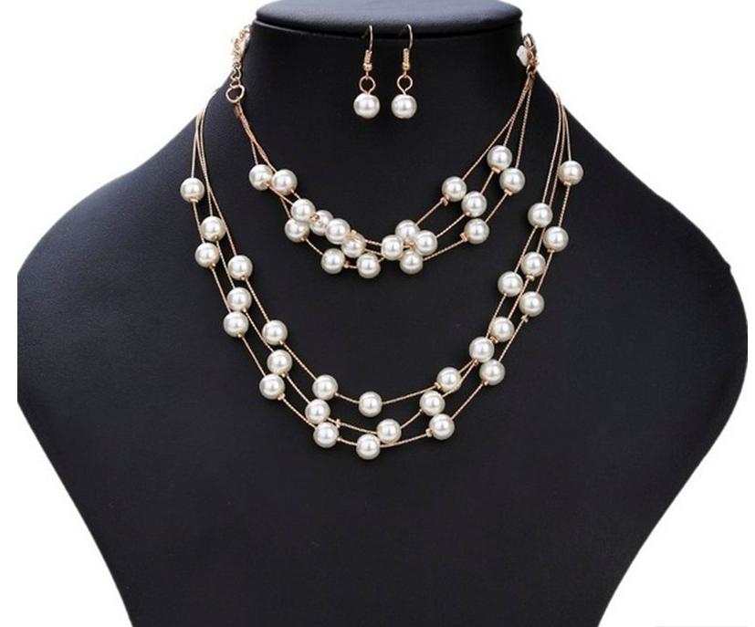 Комплект украшений серьги, браслет и ожерелье код 1206