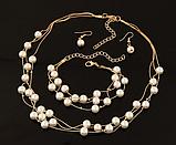 Комплект украшений серьги, браслет и ожерелье код 1206, фото 3