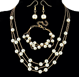 Комплект украшений серьги, браслет и ожерелье код 1206, фото 4