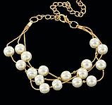 Комплект украшений серьги, браслет и ожерелье код 1206, фото 6