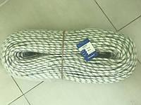 Веревка статическая высопрочная (полиамидная) 12 мм для промышленного альпинизма, не жесткая