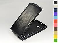 Откидной чехол из натуральной кожи для Nokia Lumia 735