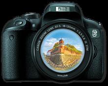 "Магнит-фотоапарат.  Дубно. ""Дубенський замок  Вежа Беатка"""