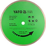 Диск алмазный YATO сплошной 300х10,0x25,4 мм для керамики (YT-5974)