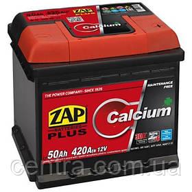 Автомобильный аккумулятор ZAP Plus 6СТ-50 R+ 420A