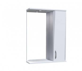 """Дзеркало """"Жако"""" з шафкою та підсвіткою 55 (Білий) (08855)"""