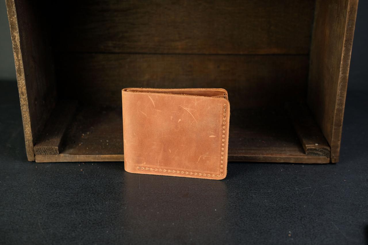 Классическое портмоне на 6 карт Crazy Horse коньяк