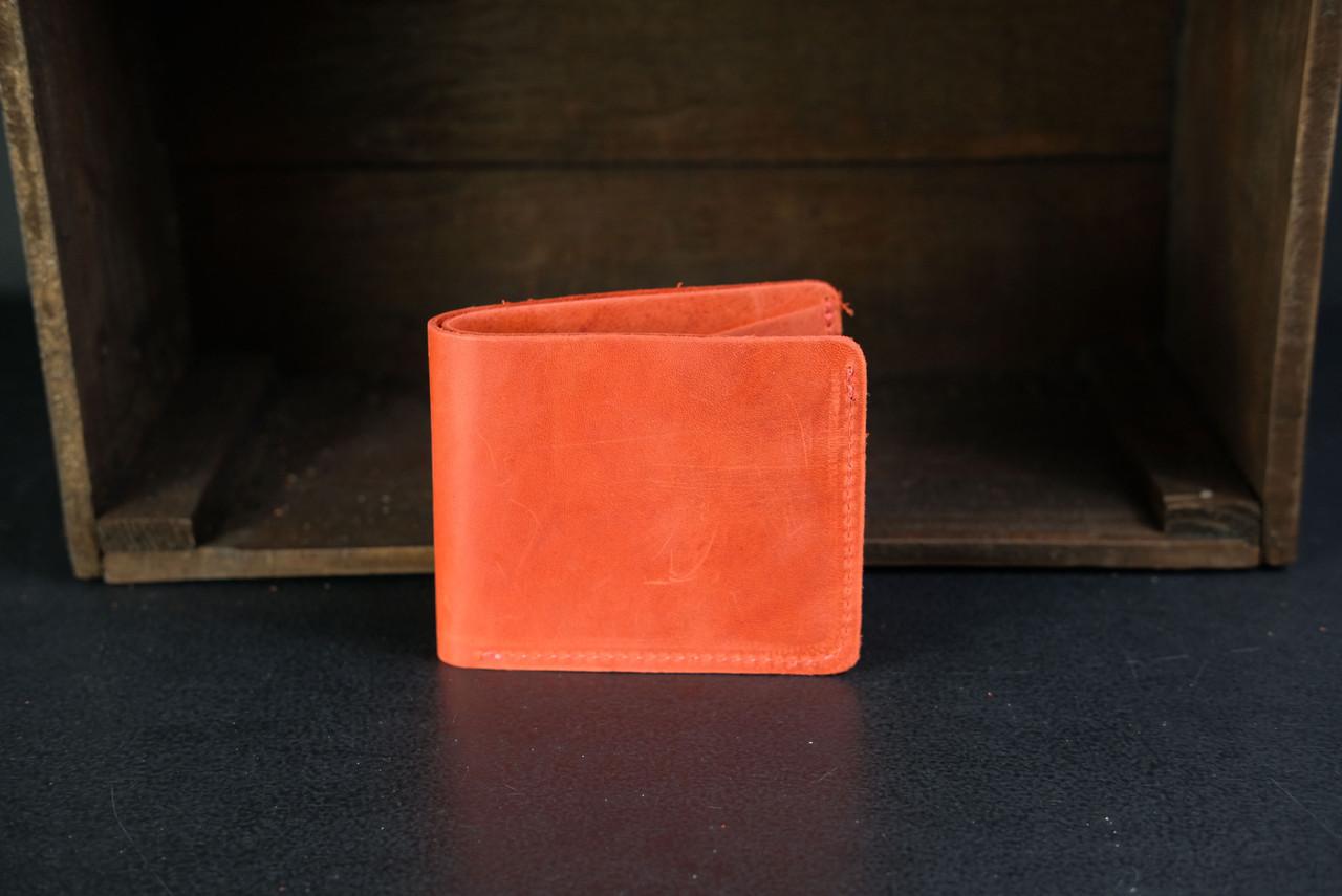 Портмоне классика на 6 карт Crazy Horse красный