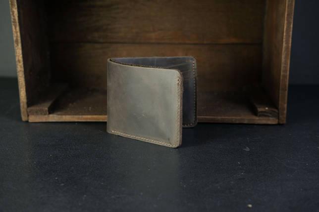 Портмоне класика на 6 карт Crazy Horse шоколад, фото 2
