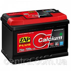 Автомобильный аккумулятор ZAP Plus 6СТ-75 R+ 720A