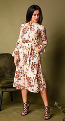 Платье женское в персиковом цвете размеры двойные 42-44,46-48,50-52