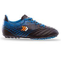 Сороконожки многошиповки детские подростковые обувь для футбола PABU полиуретан синие (СПО 19093) 31