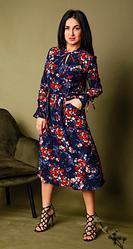 Платье с принтом нарядное размеры двойные 42-44