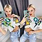 Белая Летняя модная стильная женская  футболка топ, фото 3