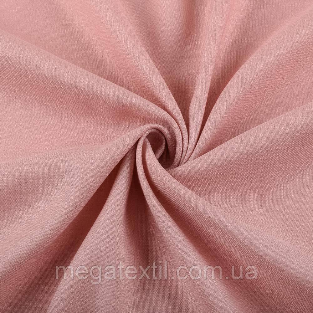 Лен стрейч с хлопком розово-серый ш.145 (12654.011)