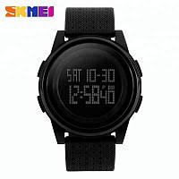 Skmei  1206  Ultra New черные с черным циферблатом мужские спортивные часы, фото 1