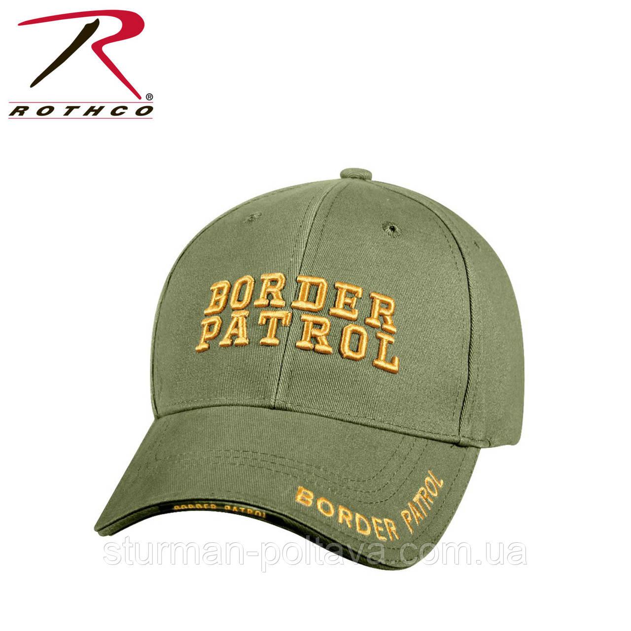 Бейсболка  мужская Пограничный патруль  DELUXE LOW  BORDER PATROL PROFILE CAP цвет олива  Rotcho USA