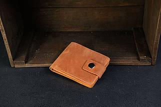 Классическое портмоне на 6 карт с застежкой Crazy Horse коньяк, фото 2