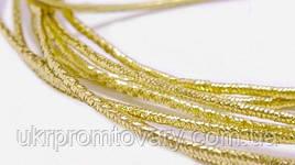 Резинка 1,5 мм для масок, цвет золотистый люрекс
