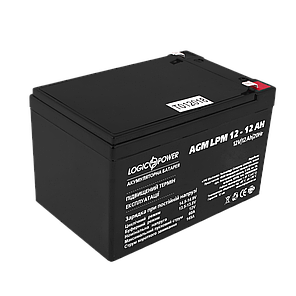 Аккумулятор AGM LogicPower  LPM12-12 (12 Вольт, 12 Ач), фото 2