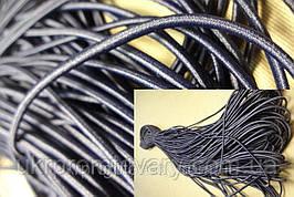 Резинка круглая  черная для масок 3 мм, черная, производство