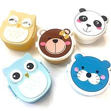Ланч-бокс для діток ведмедик, панда, котик, ведмедик, сова