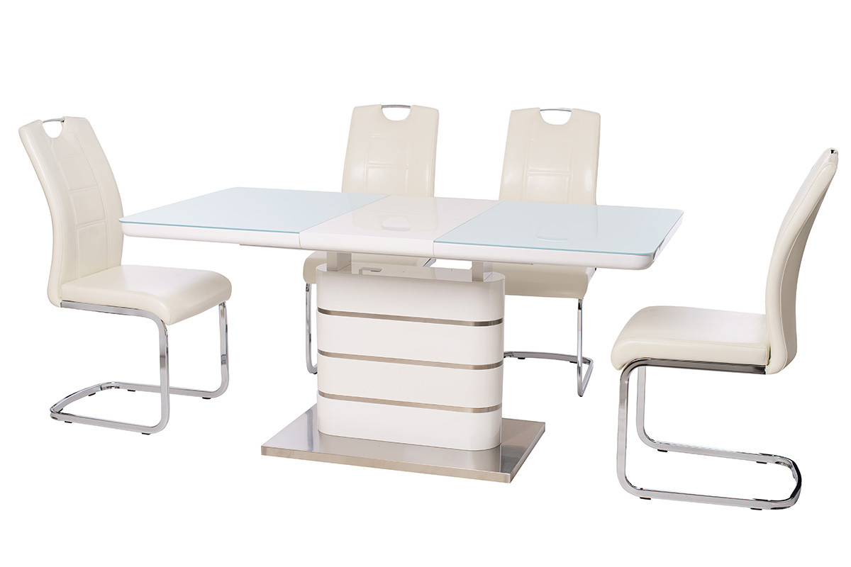 Стол ТМ-52-1 (Белый) 1200(+400)*800